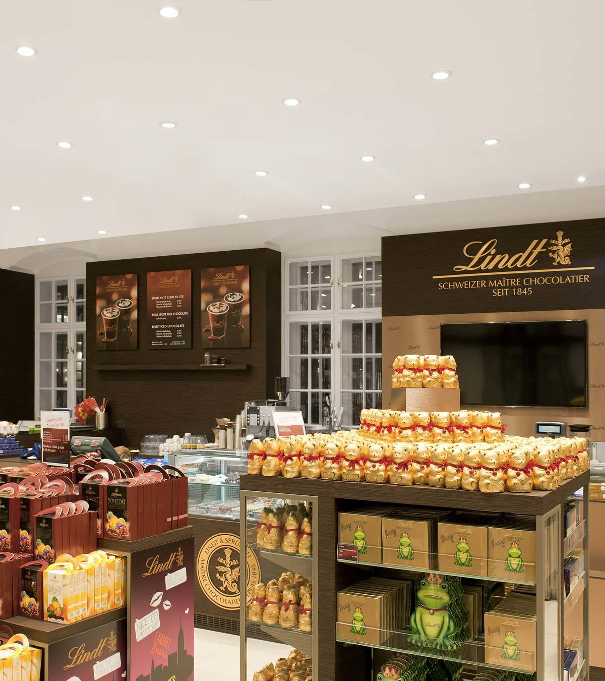 Our projects: LINDT CHOCOLATE SHOPS, Vienna - Austria   Linea ...