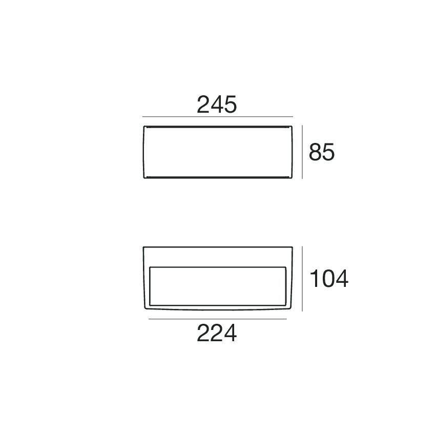 Cicada_HV 97313W00 - Grey - topLED - 24 W - Linea Light Group