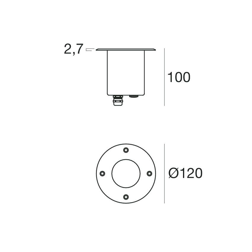 Insy_R 88090C50 - steel - powerLED - 6 W - Linea Light Group