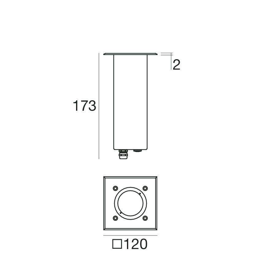 Insy_Q 87636B50 - steel - powerLED - 6 W - Linea Light Group