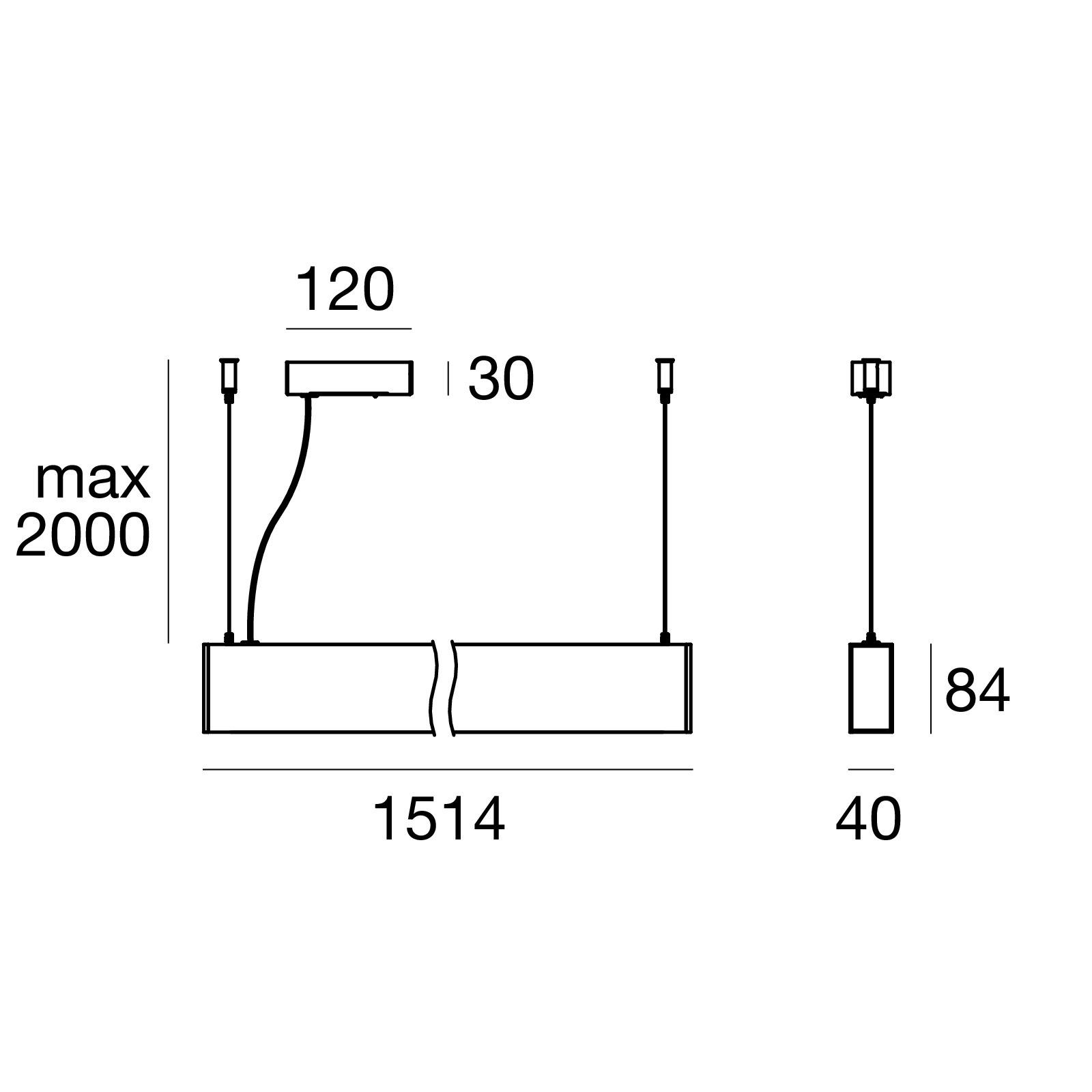подвес Mini Outlinep 64778w00 Linea Light Group